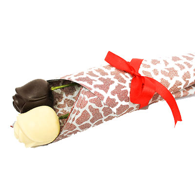 Dark and White Chocolate Roses Pack of 2
