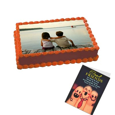 Best Friend Photo Cake