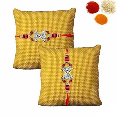 Diamond Rakhi Set