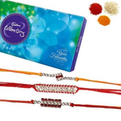 Rakhi Set with Cadbury Celebration