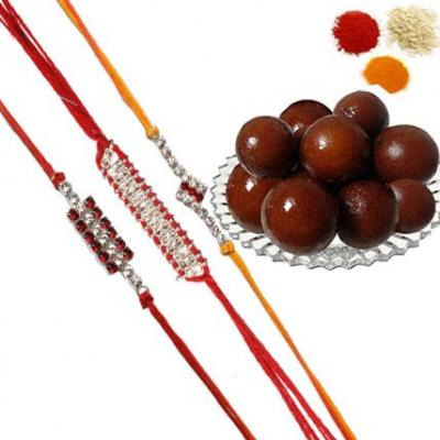 Rakhi Set and Gulab Jamun