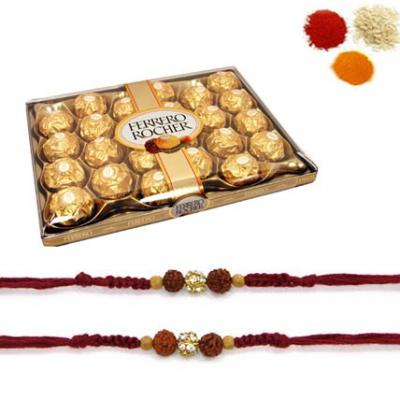 Rakhi with 24 PCs Ferrero Rocher