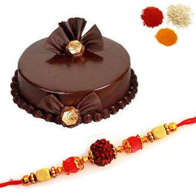 Rakhi with Chocolate Truffle Cake