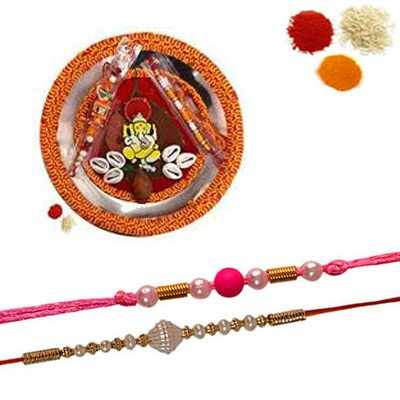 Rakhi Thali with 2 Free Rakhi