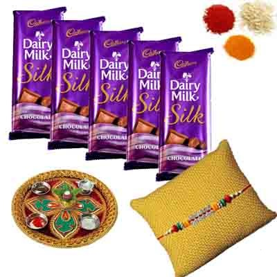 Rakhi Thali with Dairy Milk Silk