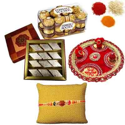 Rakhi Thali Sweets and Chocolates