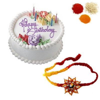 Rakhi with Vanilla Cake