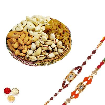 Rakhi Set with Mixed Dry Fruits