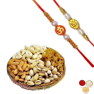 Divine Rakhi Set with Mixed Dry Fruits