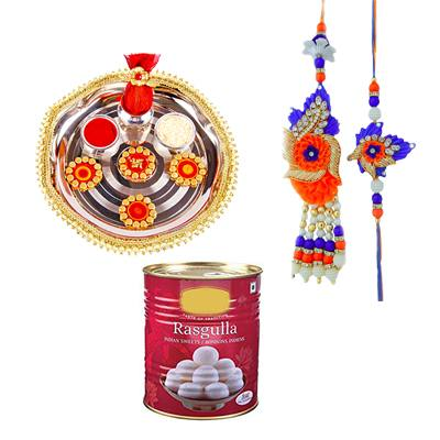 Lumba Rakhi With Rasgulla