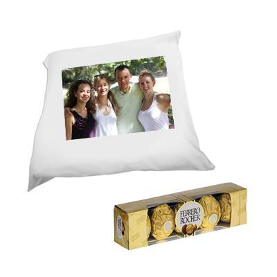 Personalized Cushion with Ferrero Rocher