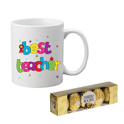 Teachers Day Mug with Ferrero Rocher
