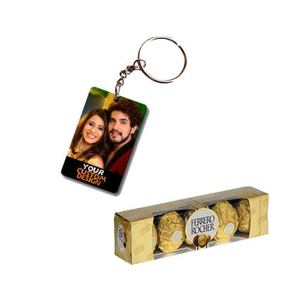 Photo Key Chain with Ferrero Rocher