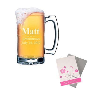 Personalied Beer Mug with Greeting Card