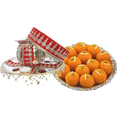 Send Pooja Thali with Laddu Online in India at Best Rates