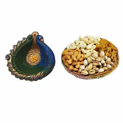 Mixed Dry Fruits With Diyas