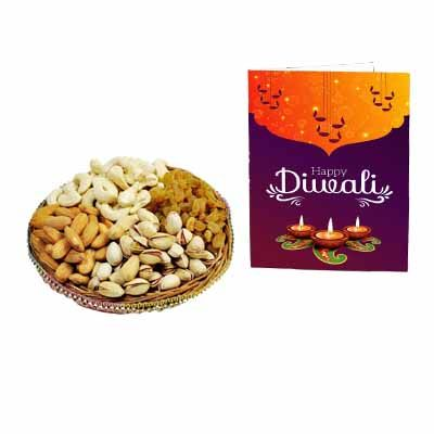 Mixed Dry Fruits With Greeting Card