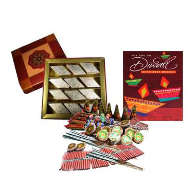 Diwali Crackers with Sweets