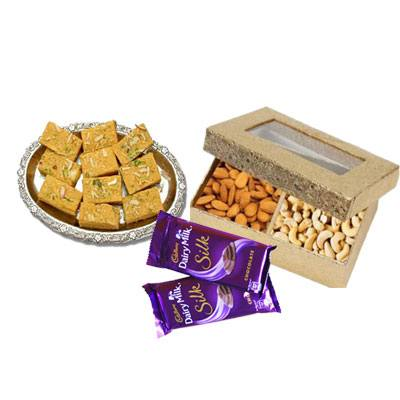 Soan Papri with Dry Fruits & Chocolates