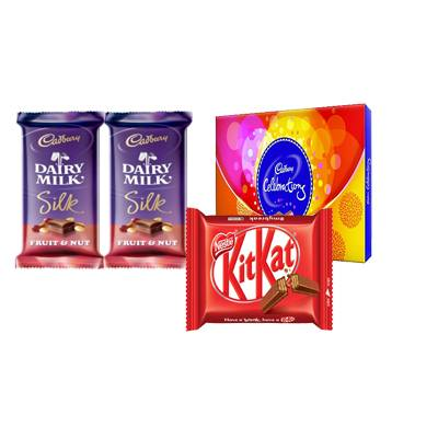 Cadbury Celebration with Kitkat and Cadbury Silk Fruit & Nut