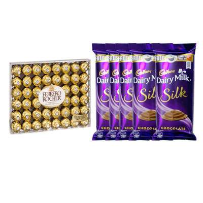Ferrero Rocher with Dairy Milk Silk Chocolates