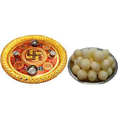 Thali with Rasgulla Box