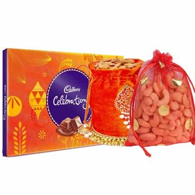 Almonds & Cashew Pouch with Cadbury Celebration