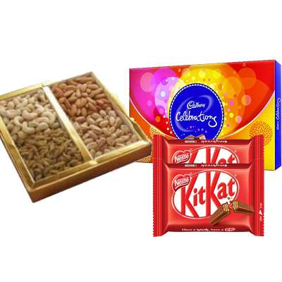 Mixed Dry Fruits with Kitkat & Celebration
