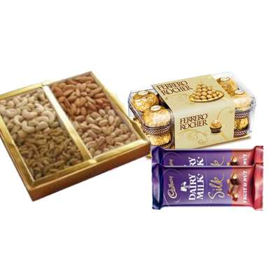 Mixed Dry Fruits with Ferrero Rocher & Silk