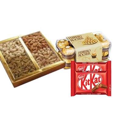 Mixed Dry Fruits with Ferrero Rocher & Kitkat