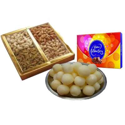 Mixed Dry Fruits with Rasgulla & Celebration