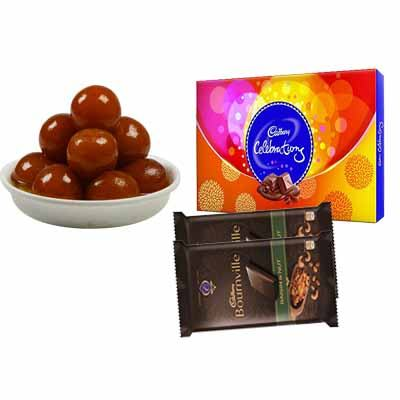 Gulab Jamun with Celebration & Bournville