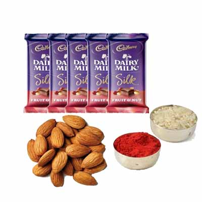 Dairy Milk Silk with Almonds & Roli Chawal