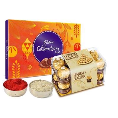 Cadbury Celebration with Ferrero Rocher & Roli Chawal