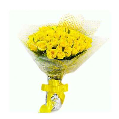 50 Yellow Roses Bouquet