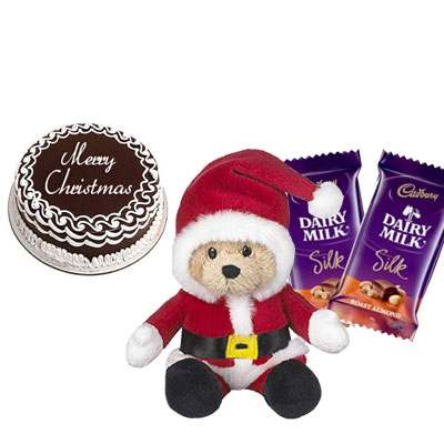 Christmas Cake with Santa Claus & Silk