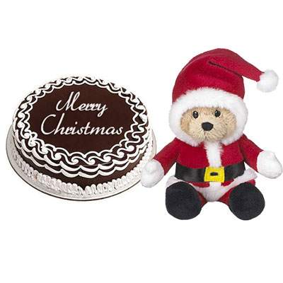 Christmas Chocolate Cake with Santa Claus
