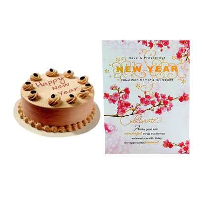 New Year Butterscotch Cake & Card