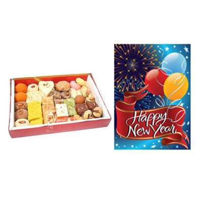 Mixed Sweets with New Year Card