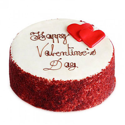 Happy Valentine Red Velvet Cake