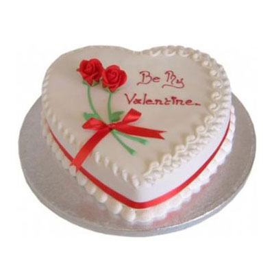 Valentine Day Strawberry Heart Shape Cake