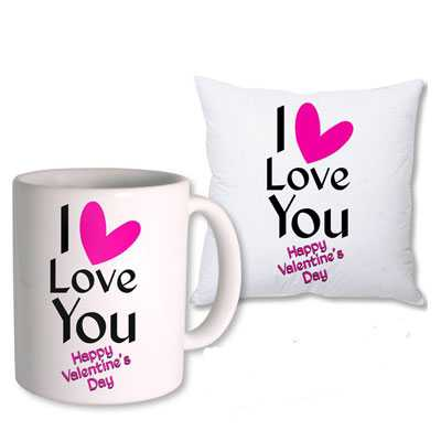 I Love You Mug & Cushion