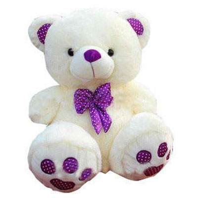 12 Inch White Teddy Bear