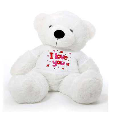 I Love You White Big Teddy Bear