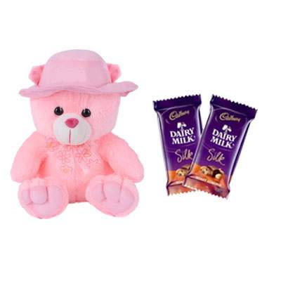 16 Inch Teddy Bear with Silk Chocolates