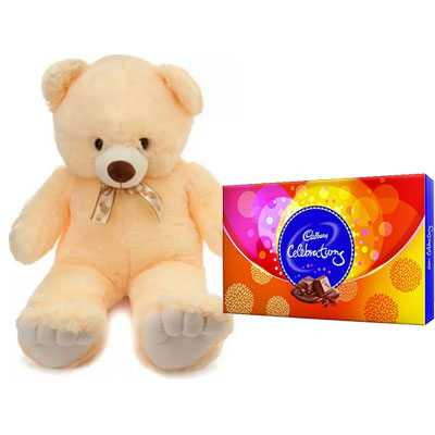 24 Inch Teddy with Celebration