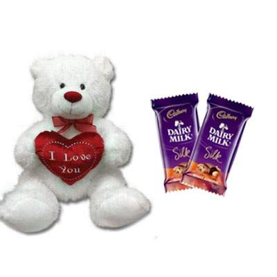 30 Inch Teddy with Silk