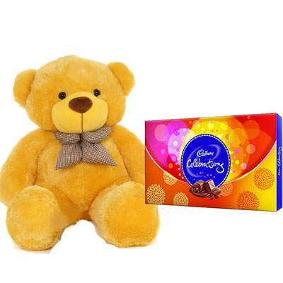36 Inch Teddy with Celebration