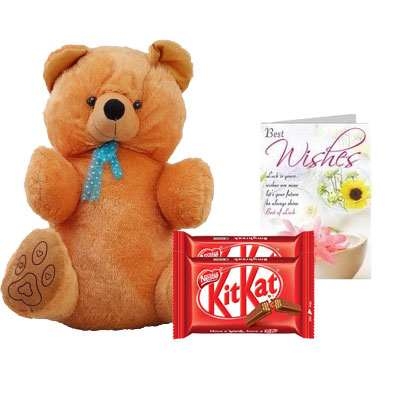 40 Inch Teddy with Kitkat & Card