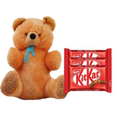 40 Inch Teddy with Kitkat
